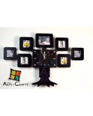 Clock Photo Frame With Stand
