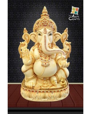 Cultured Marble Ganesha Antique