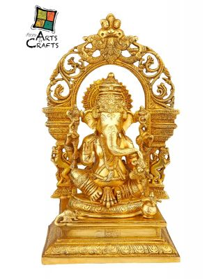 Brass Ganesha Antique Statue