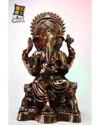 Antique Ganesha Gun Metal