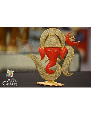 Ganesha Stone Embedded Car Ornament & Home Decor