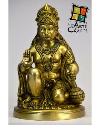 Antique Hanumaan Statue Brass