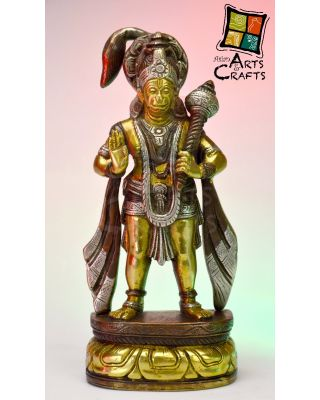 Hanuman Ji Brass Sculpture