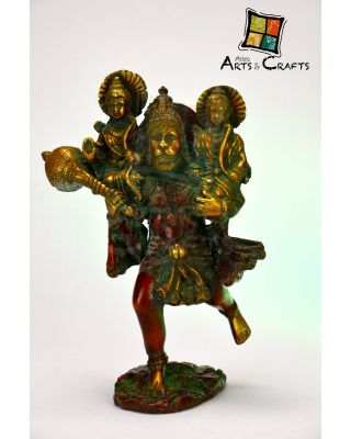 Hanuman JI With Ram and Sita Ji  Brass
