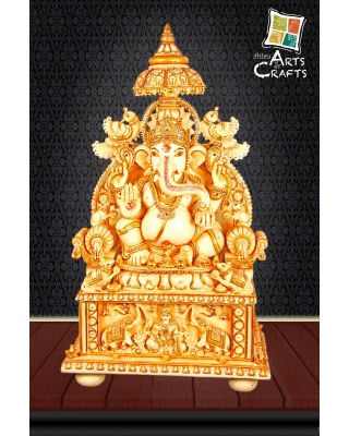Cultured Marble Ganesha Statue