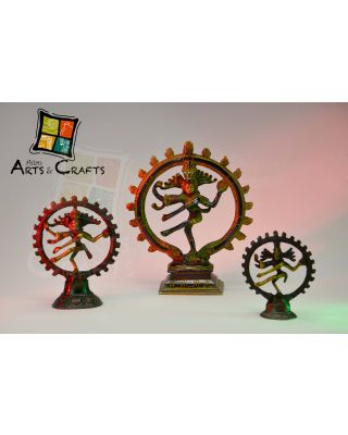 Natraj Brass Statue 3pcs Set
