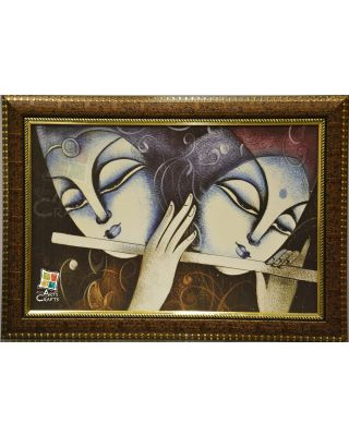 Painting Radha Krishna With Frame
