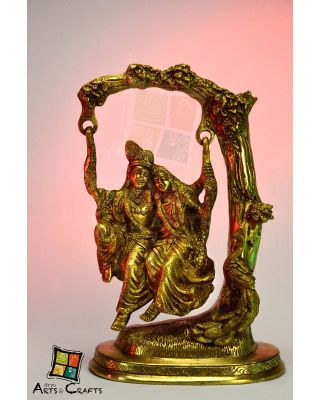 Radha Krishna Swing brass Antique