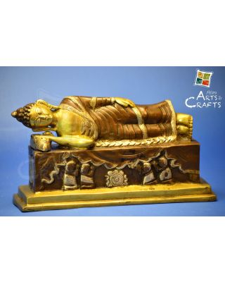 Brass Antique Sleeping Buddha