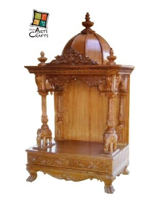 Teakwood Three Side Open Temple