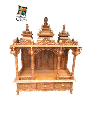 Teakwood Antique Pooja Ghar
