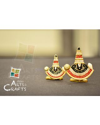 Tripati Balaji Stone Embedded Car Decor