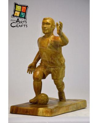 Wooden Antique Football Player